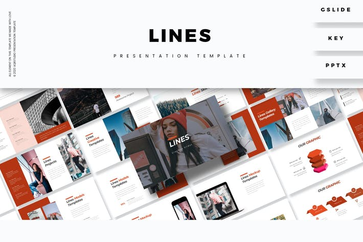 Thumbnail for Lines - Presentation Template