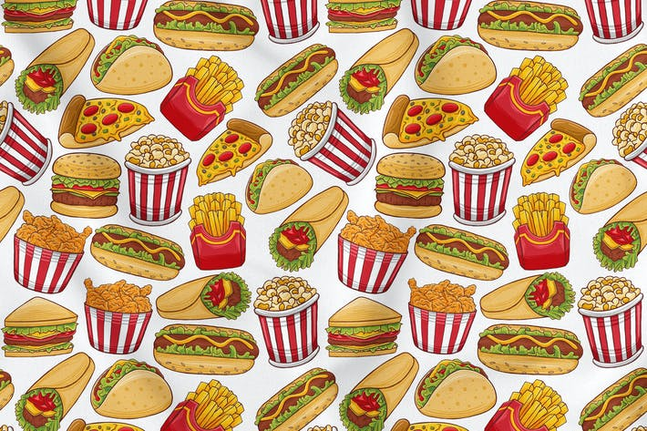 Thumbnail for Fast Food Seamless Pattern