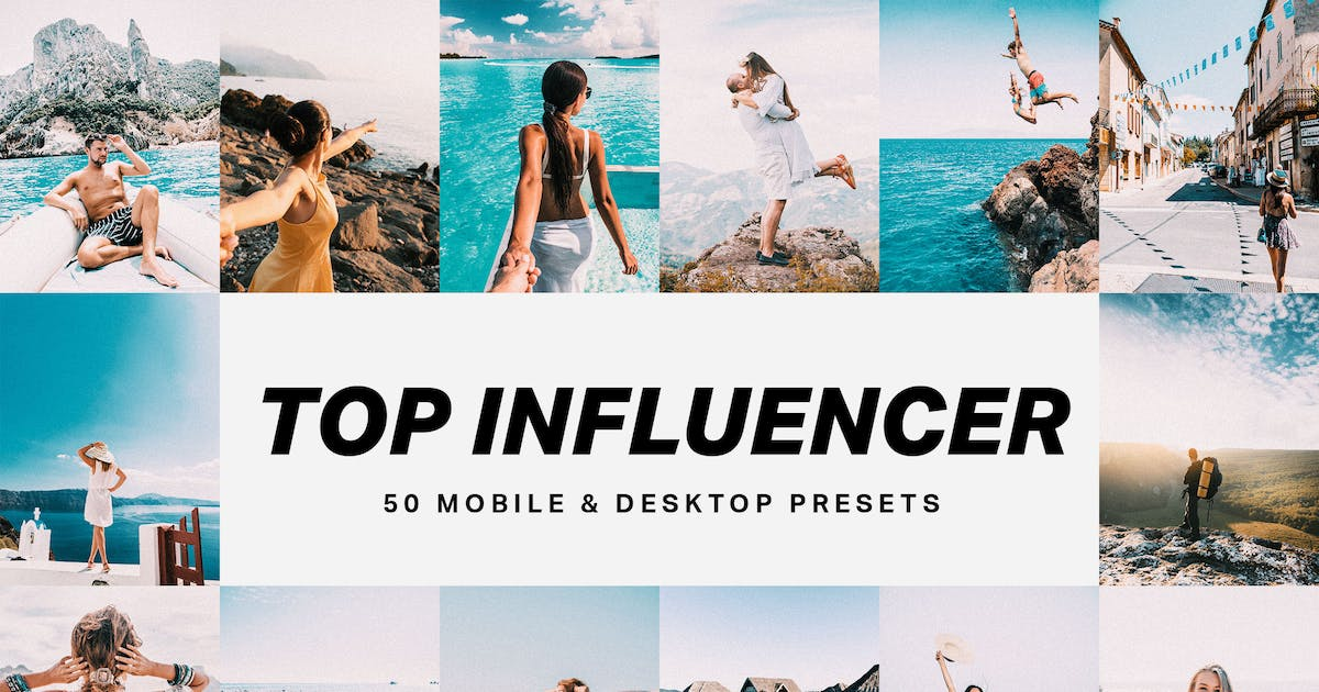 Download 50 Top Influencer Lightroom Presets and LUTs by sparklestock