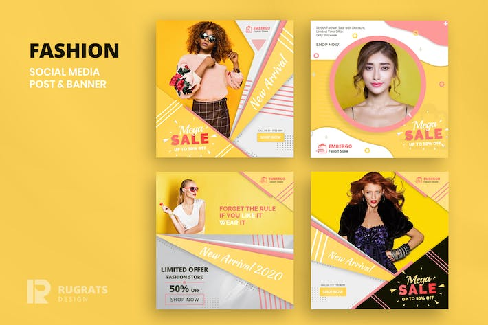 Thumbnail for Fashion  R1 Social Media Post Template
