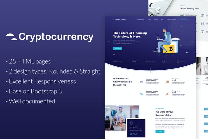 Thumbnail for CryptoCurrency - HTML Template