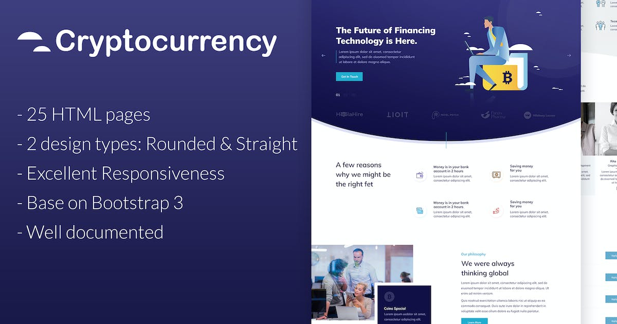 Download CryptoCurrency - HTML Template by fruitfulcode