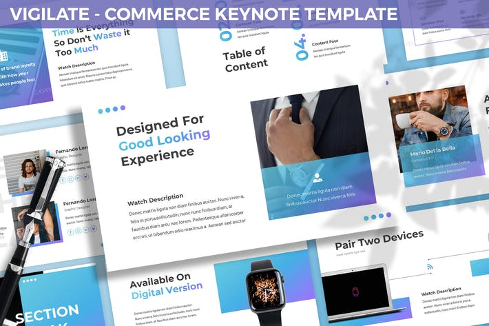 Thumbnail for Vigilate - Commerce Keynote Template