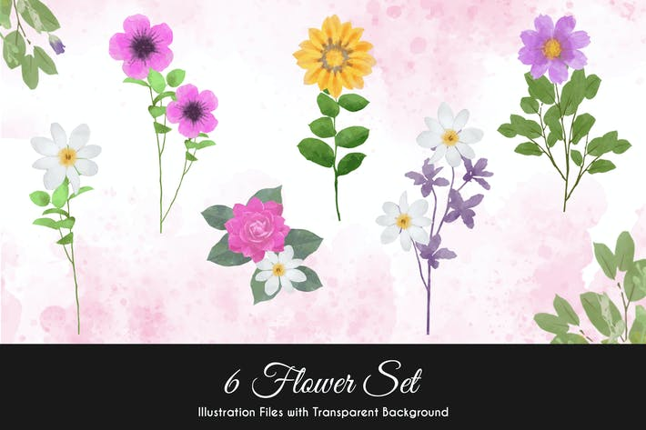 Thumbnail for Watercolor Flower Illustration