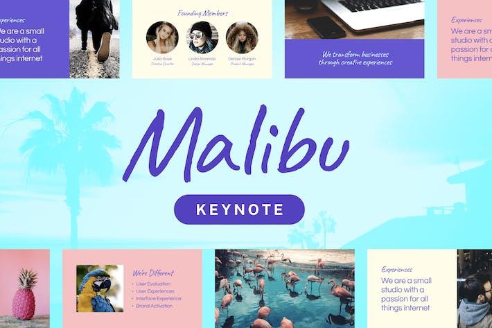 Thumbnail for Malibu — Keynote Presentation Template