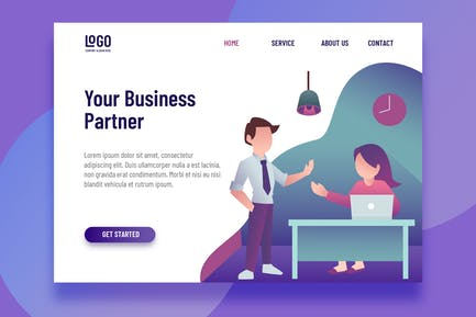 Business Partner - Landing Page