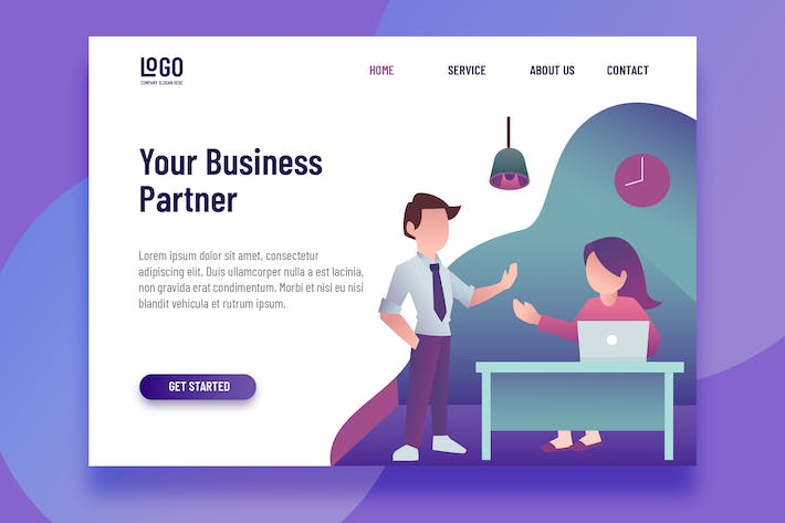 Thumbnail for Business Partner - Landing Page