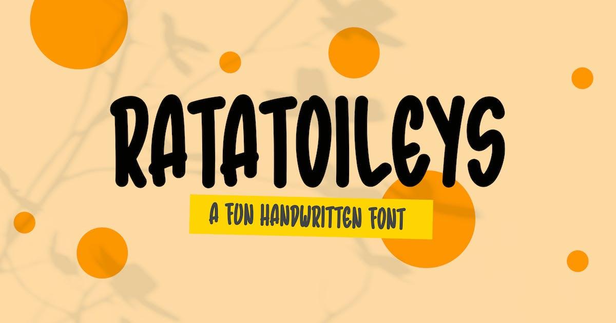 Download Ratatoileys - Font Handwritten DR by Rometheme