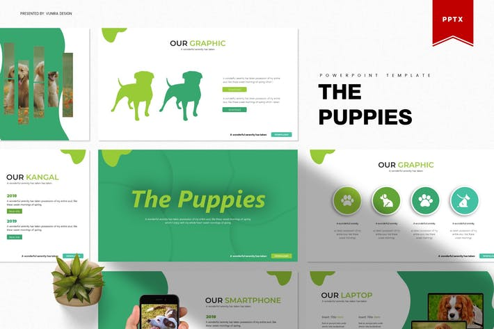 Thumbnail for The Puppies | Powerpoint Template