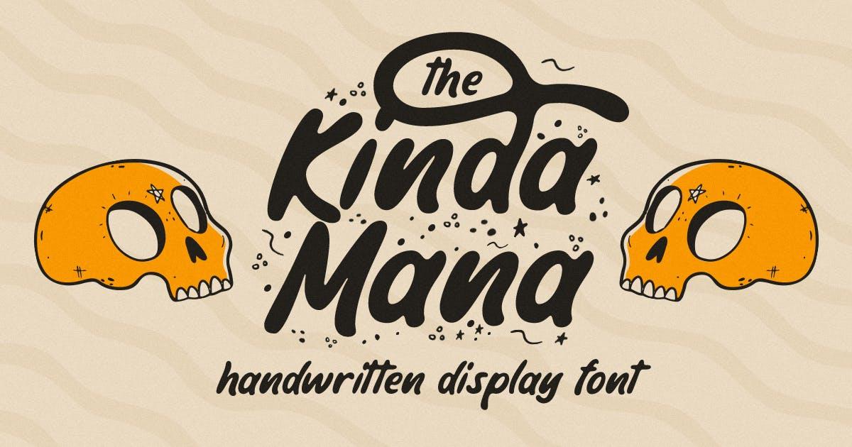 Download The Kindamana - Handwritten Display Font by Rillatype