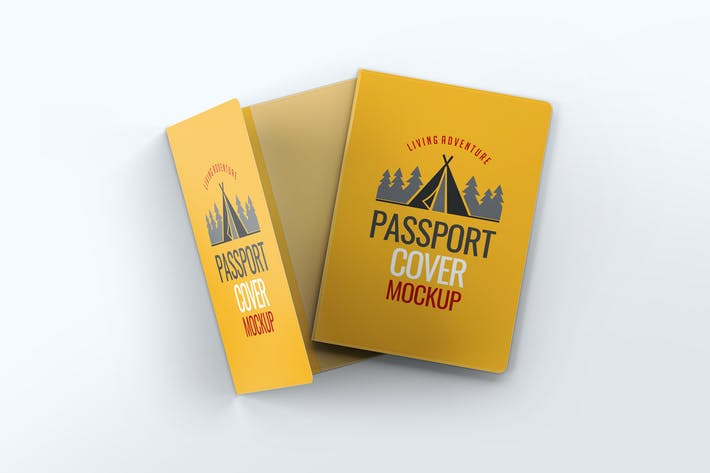 Thumbnail for Passport Cover Mock-Up
