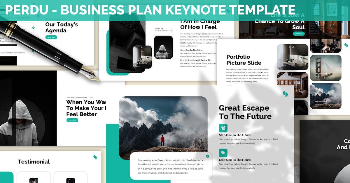 Download Perdu - Business Plan Keynote Template by SlideFactory