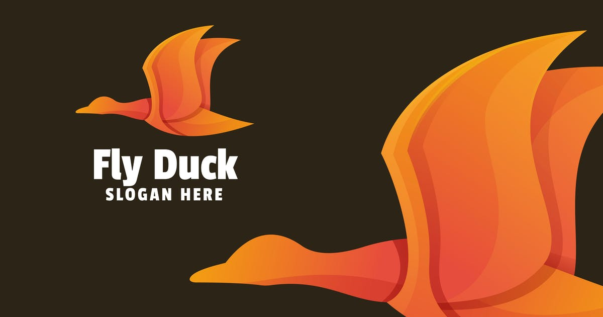 Download Fly Duck Gradient Logo Template by yuanesei