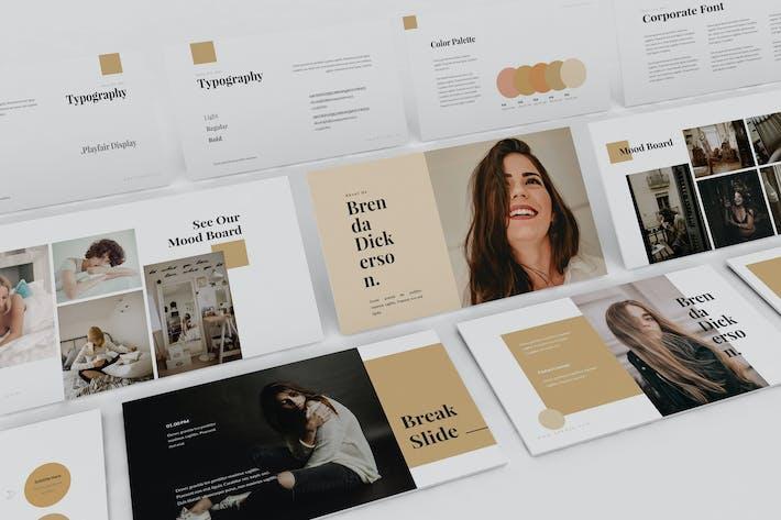 Thumbnail for Brenda - Brand Guideline Powerpoint Template