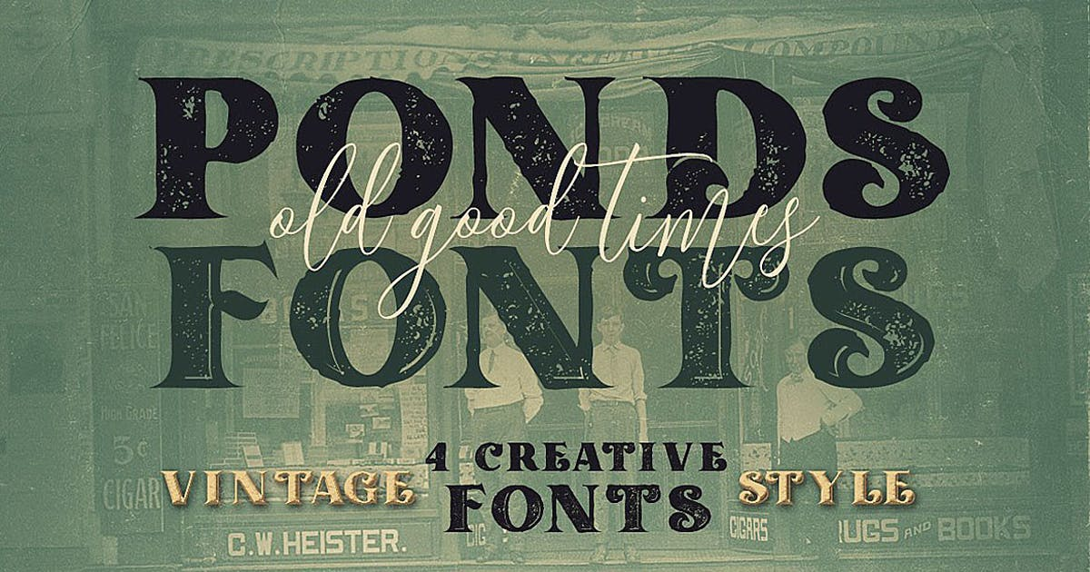 Download Ponds Typeface by cruzine