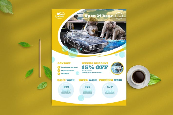 Thumbnail for Car Wash Flyer 7