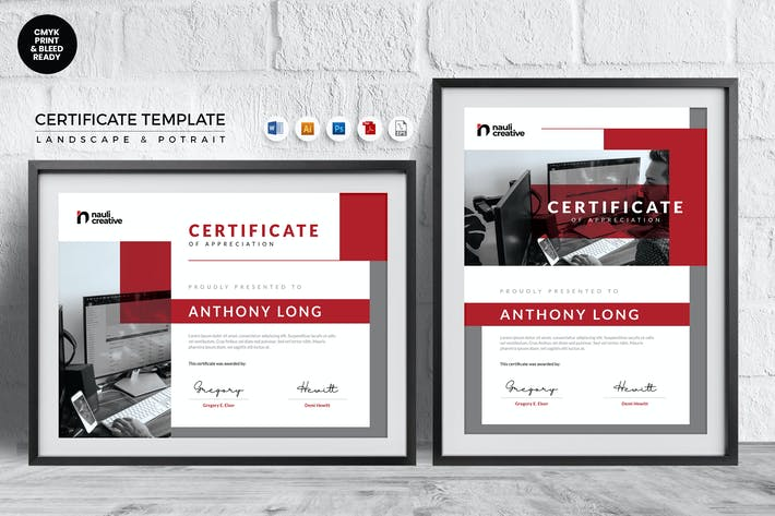 Thumbnail for Professional Certificate Template Vol.2