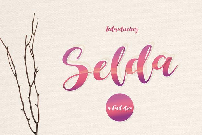 Thumbnail for Selda Script Font Duo