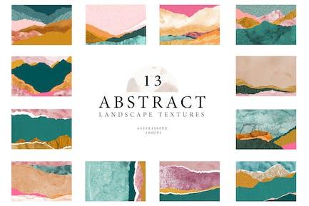 Abstrakte Landschaft Collage Texturen