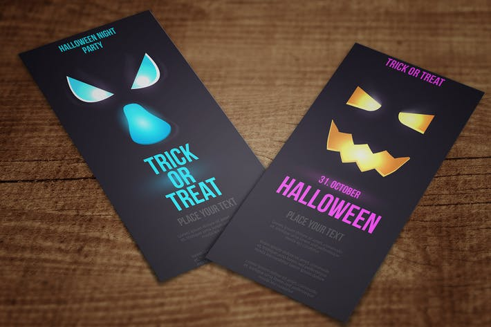 Thumbnail for Halloween flat designed Vertical Banners