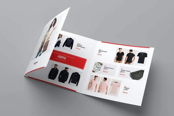 Thumbnail for Brochure – Fashion Look Book Tri-Fold Square