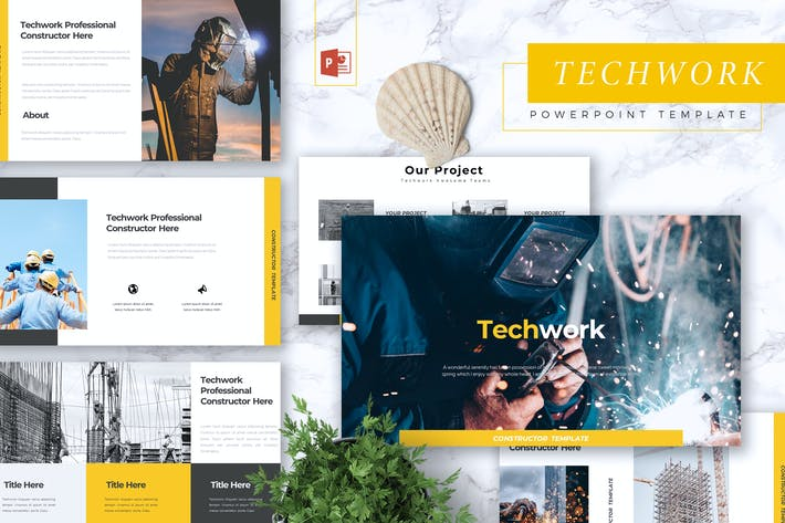 Thumbnail for TECHWORK - Construction Powerpoint Template