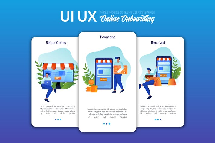 Thumbnail for UI UX Screen Template