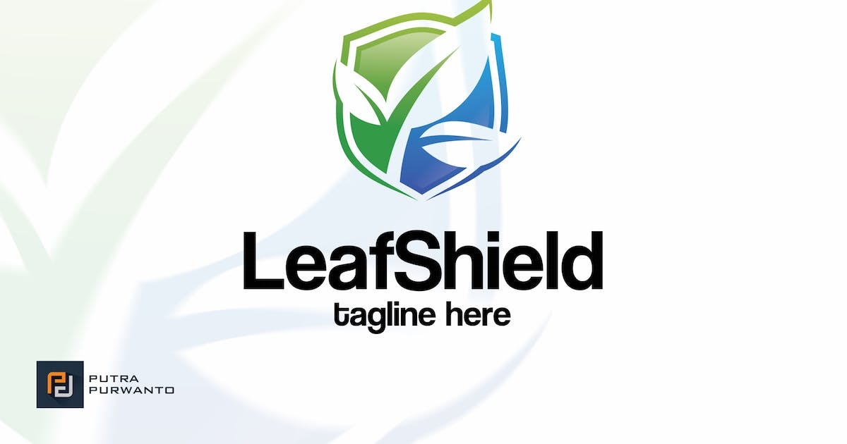 Download Leaf Shield - Logo Template by putra_purwanto