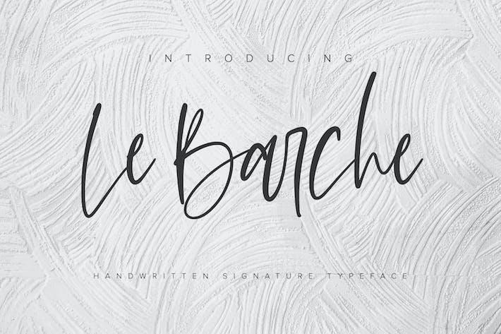 Thumbnail for Le Barche - Chic Handwritten Font