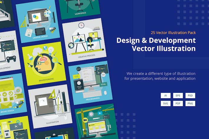 Thumbnail for Design and Development Vector Illustration