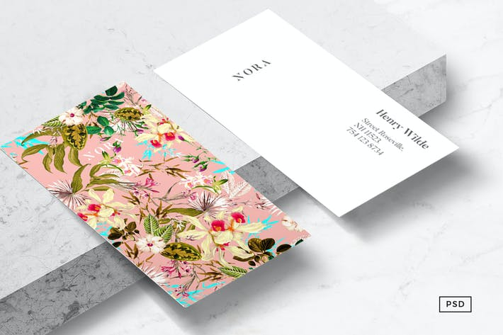 Thumbnail for Nora Floral Business Card Template