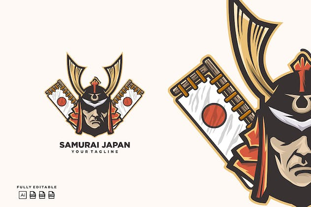 Samurai Japan Logo template