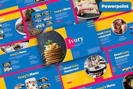 Рестораны и кафе Powepoint Шаблон