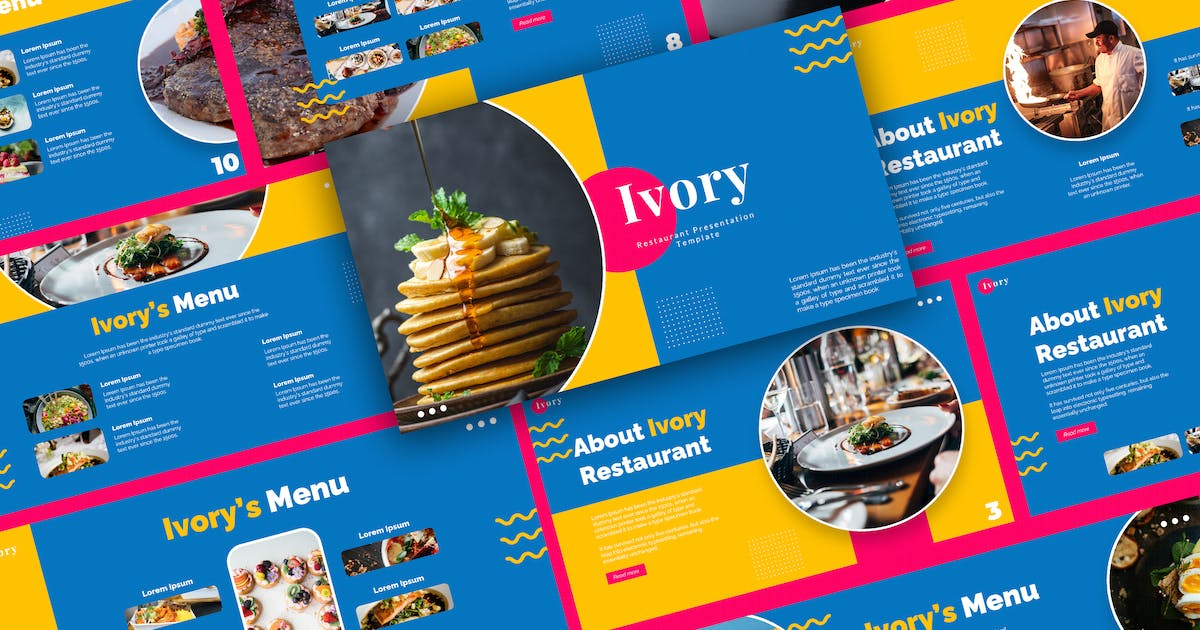Download Restaurants and Cafe Powepoint Template by deTheme