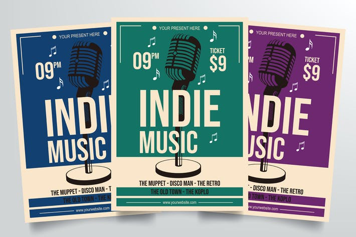 Thumbnail for Indie Music Flyer Template