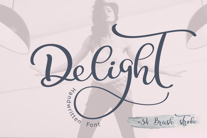Thumbnail for Caligrafía Decoración de la Boda Font Delight