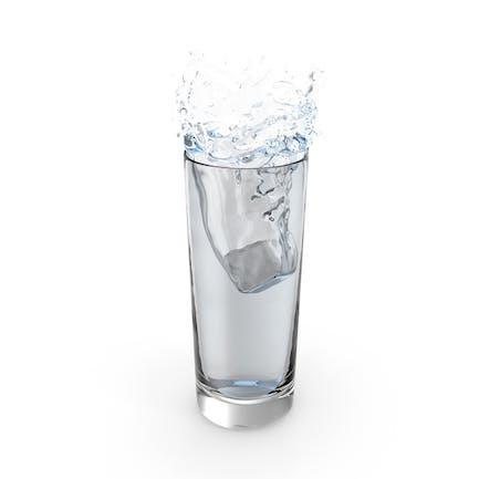 Eiswürfel-Wasser-Splash