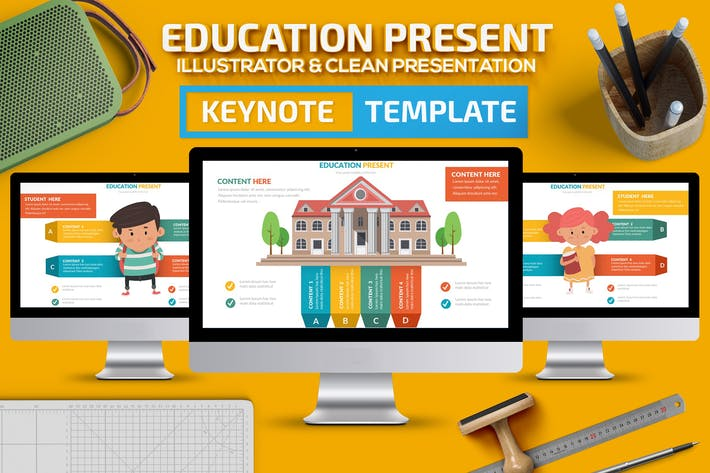 Thumbnail for Education Keynote Slides Templarte