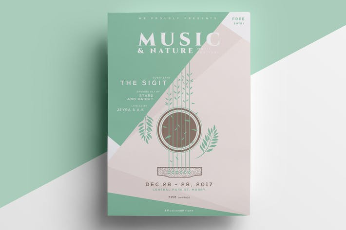 music event poster by micromove on envato elements