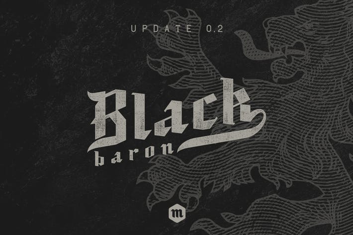 Thumbnail for Black Baron Typeface|Medieval Font