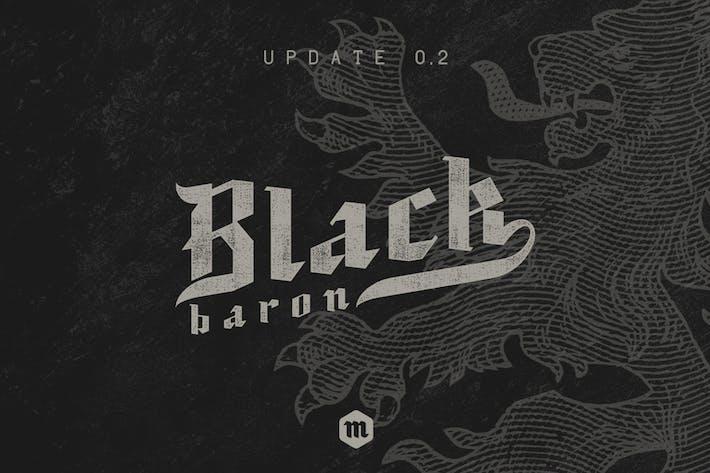 Noir Baron Typeface|Police médiévale