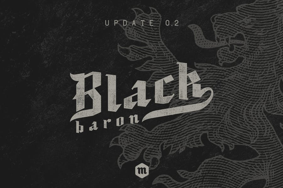 Black Baron Typeface Medieval Font