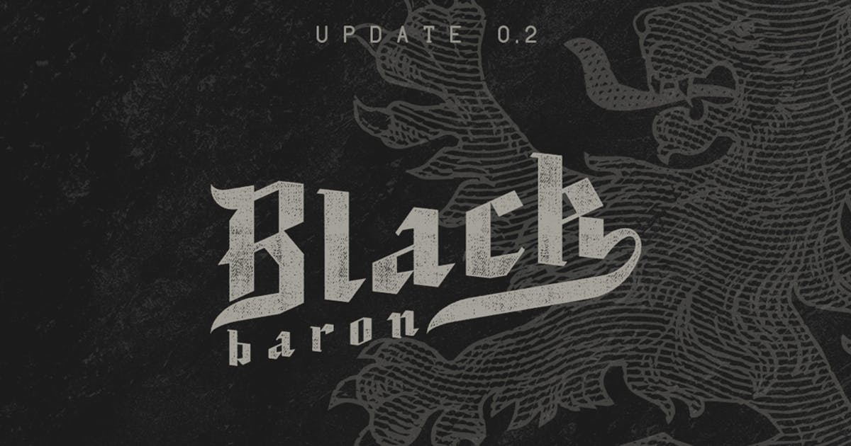Download Black Baron Typeface|Medieval Font by Mihis_Design