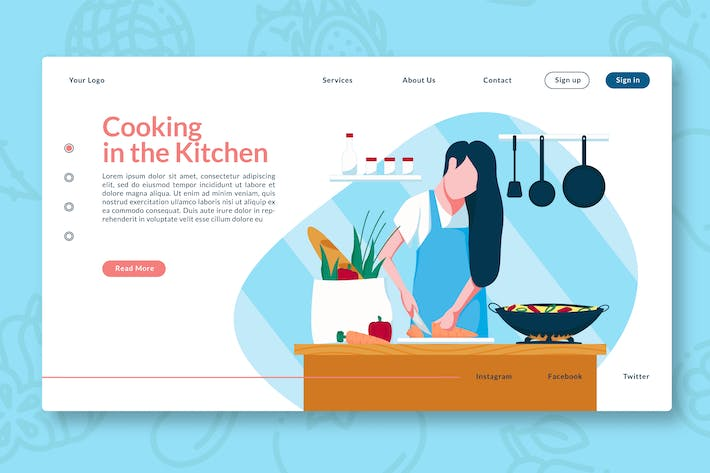 Thumbnail for Cooking in the Kitchen - Landing Page GR