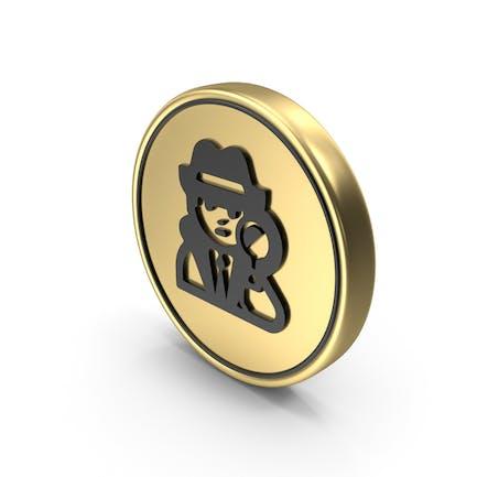 Spy Coin Logo Icon