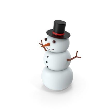 Cartoon Snow Man