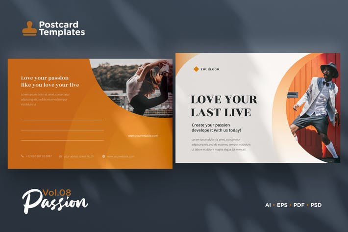 Thumbnail for Postcard Template Vol.08 Passion