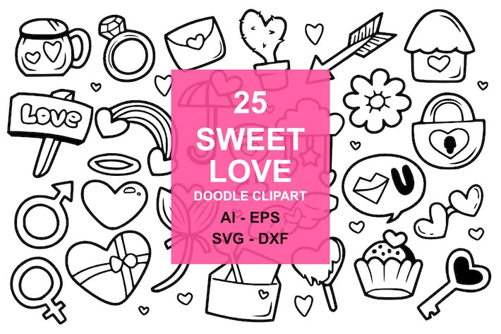 Thumbnail for 25 Sweet Love Doodles