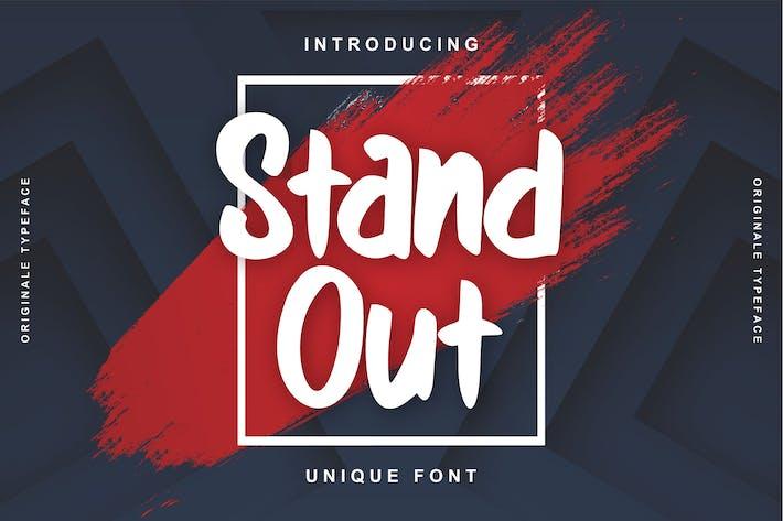 Thumbnail for Stand Out | Unique Font