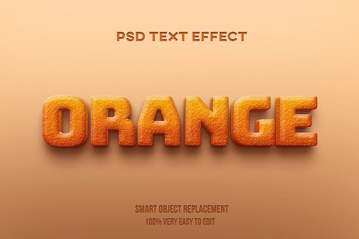 Эффект текста апельсиновой корки